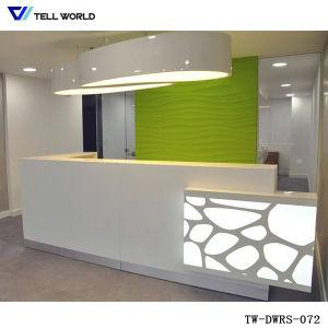 LED Small Reception Table, Reception Desk For Office Desk Design