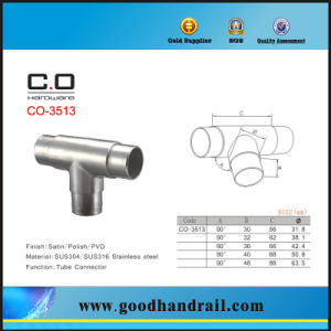 Stainless Steel Round Tube Corner Connector pictures & photos