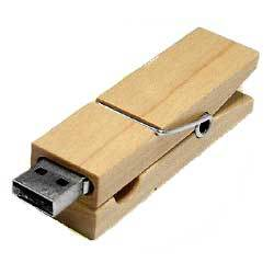Clamp Wooden USB Flash Disk