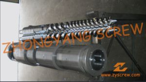 Conical Twin Screw and Barrel for PVC Sheet pictures & photos