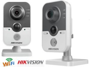 Hikvision 1.3MP Network Cube Camera High Resolution Poe WiFi IP Camera (DS-2CD2412F-I(W) pictures & photos