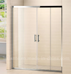 Hot Selling Stainless Steel Frame Tempered Glass Shower Screen (LTS-032) pictures & photos