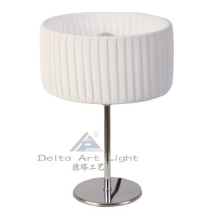Art Mini Table Lamp with Cylinder PE Shade for Reading (C5003007) pictures & photos