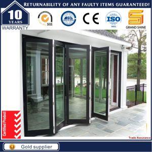 USA Standard Double Glass Soundproof Cheap Interior Folding Door