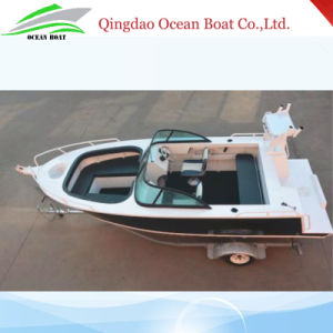 China Factory Supply 17FT/5m Bowrider Welded Aluminum Fishing Boat