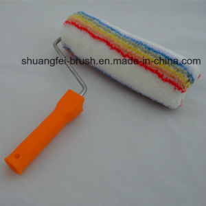 25cm 18mm Elitacolor Soft (rainbow stripe)) Acrylic Paint Roller Cover with 8mm Rod PP Handle pictures & photos