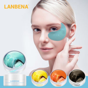 Lambeina Black Pearl Lady Eye Mask Raise Head Rim Black Eye Rim Hydrogel Eye Patch 4
