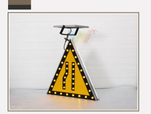 Solar Aluminum Road Narrows on Left Flashing Warning Light pictures & photos