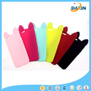 Lovely Cat Ear Silicone Phone Case for iPhone 5/6/7/Plus