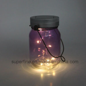LED Solar Warm White Color Firefly Jar Lights for Christmas pictures & photos