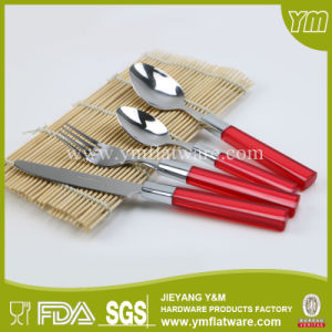 BSCI, LFGB, FDA, Coloured Plastic Handle Cutlery