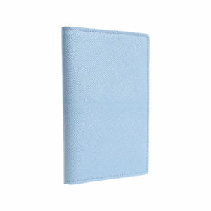 Mini Simple Vertical 2-Fold Blue Card Holder (MBNO041128) pictures & photos