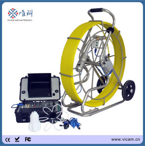 Wall and Underwater Drain Plumbing Detection CCTV Pipe Wall Inspection Camera with Wheel Skid pictures & photos