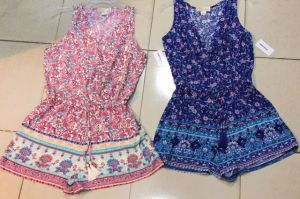 Two Kinds of Printing Sleeveless Rayon Jumpsuits pictures & photos
