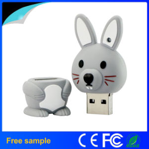 Custom Animal Rabbit Shaped USB Flash Drive for Promotional Gift