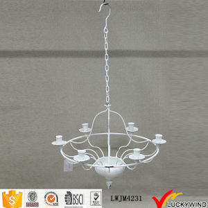 Ceiling Hanging White Vintage Chandelier Candle Holder pictures & photos