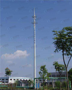 Durable Steel Frame Telecom Monopole Tower