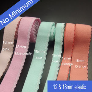 Home Textile Fine and Rich Textures Stripe Elastic Tape with Crescent pictures & photos