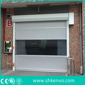 Automatic Industrial PVC Fabric High Speed Rubber Roll up Doors pictures & photos