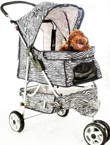 Pet Stroller Cart Cage Carrier Cat Dog Trolley pictures & photos