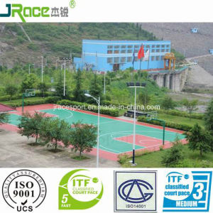 Silicone PU Sport Flooring Surface for Tennis Court pictures & photos