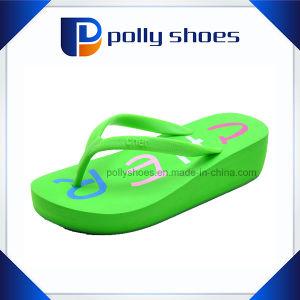 f26399e51405 China Womens Rubber High Heel Platform Wedge Sandals Beach Flip ...