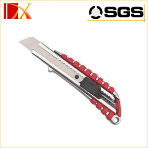 Tool Cutterauto Retractable Safety 18mm Snap off Blade Aluminium Alloy Screw Lock Knife