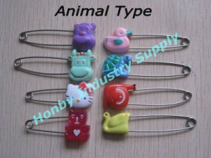 Fashion Design Various Animal Type Head Baby Diaper Safety Pin