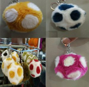 Real Large Rabbit Fur Ball for Keychains/ Fashion Fur Ball/Keychain