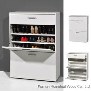 Big Foot Shoe Storage Cabinet in Wooden White (HF-EY0819) pictures & photos
