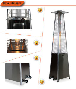 Quartz Tube Real Flame Pyramid Outdoor Gas Patio Heater (stainless steel) pictures & photos