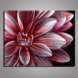 Flowers & Plants Series Pink Metal Oil Painting for Decoration pictures & photos