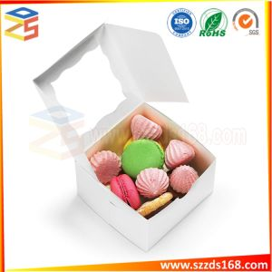 Bakery And Wedding Favor Cardboard Gift Boxes With Window