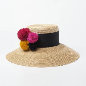 e2cb2c35 China Large Brim Sun Hat Women Summer Floppy Straw Hat with Decorate ...
