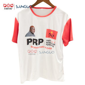 Cheapest 100% Cotton T Shirt Customised Short Sleeve Sublimation Election Campaign
