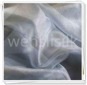Silk Fabrics with Organza Style (wenslisilk140702S18) pictures & photos