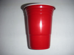 16oz Double Color Plastic Cup with Printing