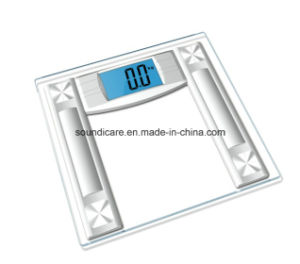 Digital Glass Bathroom Scale with Blue Backlit (B222)