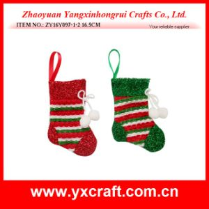 Christmas Decoration (ZY16Y097-1-2 16.5CM) Christmas Artificial Sock pictures & photos
