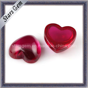 Hot Heart Shape Cabochon 5# Ruby pictures & photos