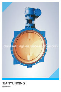Casting CF8m Disc Two Shaft/Stem Lugged Butterfly Valve pictures & photos