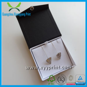 Custom Fashionable Raw Materials Paper Earring Box with Velvet pictures & photos