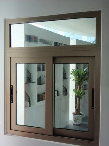 Champagne Color Aluminium Sliding Window Aluminium Profile Window Frame