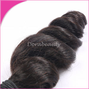 Natural Black Top Virgin Human Hair Extension pictures & photos