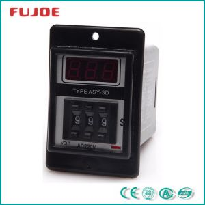 Asy-3D 0.1s-99.9s Black Digital Timer Time Delay Relay 24V