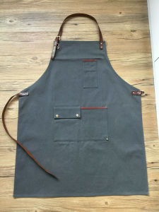 Heavy Duty Uility Custom Waxed Canvas Leather Work Apron Wholesale