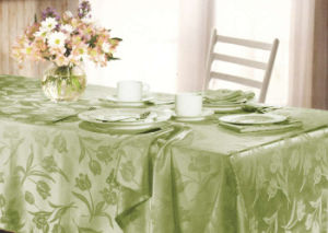 Tulip Design Jacquard Table Cover 4 People Seat St115 pictures & photos