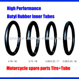 Butyl Inner Tube, Motorcycle Spare Parts, Rubber Tube 410-18, 350-18, 325-18, 300-18
