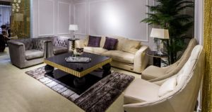 Italian Style Nubuck Leather Upholstered Living Room Furniture Series pictures & photos