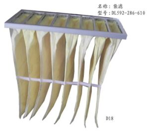 Air Conditioning Fiber Bag Filter Pleated Air Filter